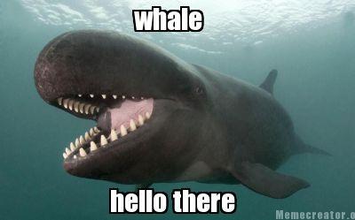Afbeeldingsresultaat voor whale hello there meme