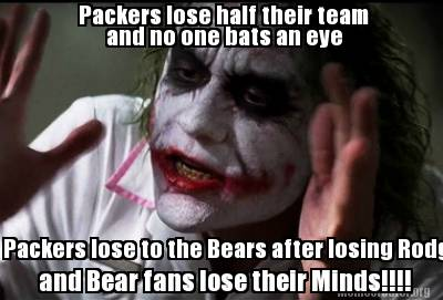 Meme Creator Funny Packers Lose Half Their Team And No One Bats An Eye Packers Lose To The Bears Af Meme Generator At Memecreator Org