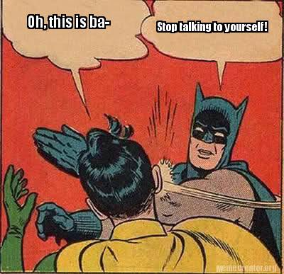 talking to yourself meme