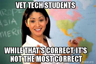 vet-tech-students-while-thats-correct-its-not-the-most-correct
