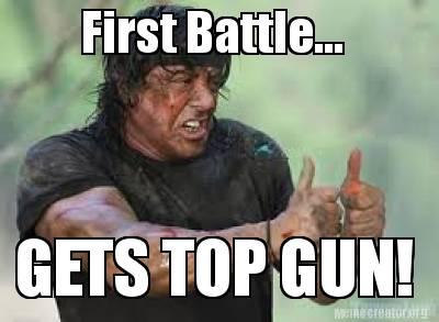 3123073 meme creator first battle gets top gun! meme generator at