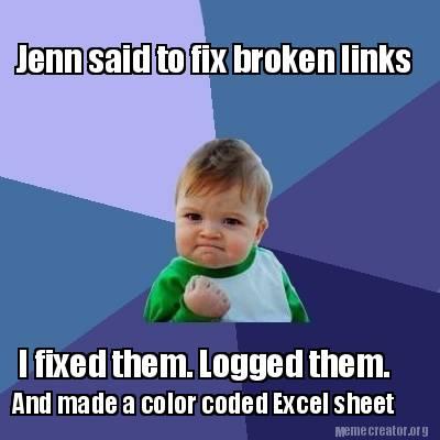 Meme Creator - Funny Jenn said to fix broken links I fixed