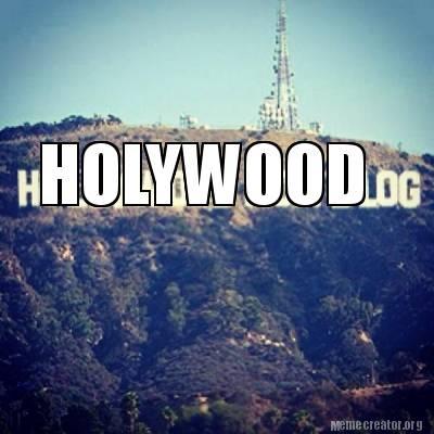 hollywood sign meme maker