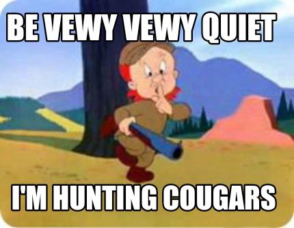 elmer cougar women Junk food looney tunes i'm hunting cougars adult green t bsw women's bunny elmer shot looney cartoon duck, the tasmanian devil, elmer fudd, porky the.