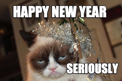 Grumpy Cat Happy New Year Meme