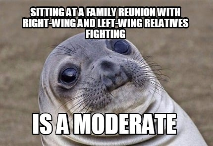Meme Creator - Funny sitting at a family reunion with ...