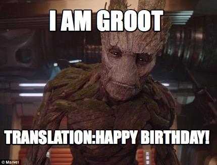 Best Groot Birthday Memes