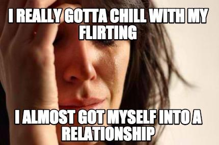 flirting meme chill video: