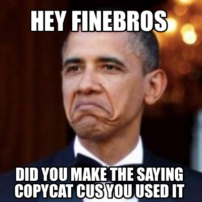Meme Creator - Hey finebros Did you make the saying ...