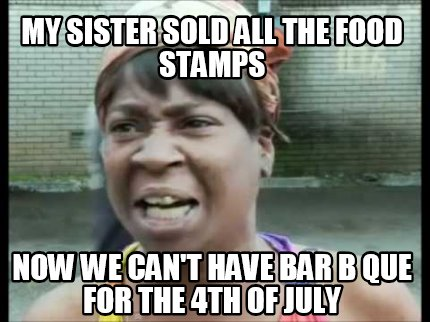 I Sold All My Food Stamps