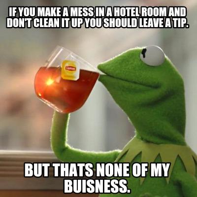 Should I Leave Tip In Hotel Room