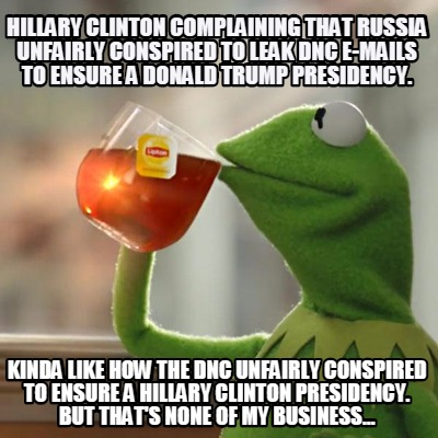 Kinda like how the DNC unfairly conspired to ensure a Hillary Clinton ...