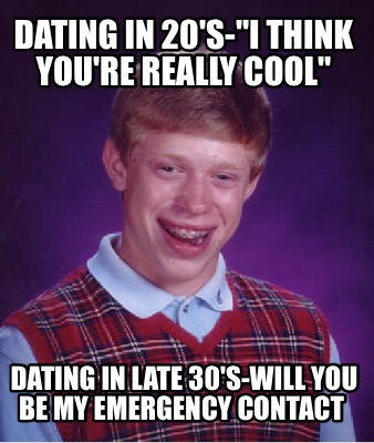 Dating in late 30s