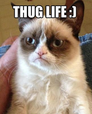 thug life meme creator