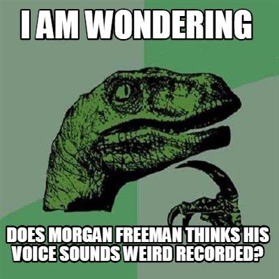 Meme Creator I Am Wondering Does Morgan Freeman Thinks