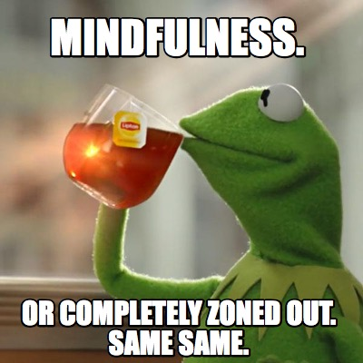 Meme Creator - Funny Mindfulness. Or completely zoned out. Same same. Meme  Generator at MemeCreator.org!