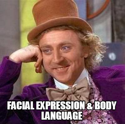 Expression facial language