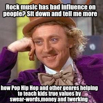 Rock music influence young people