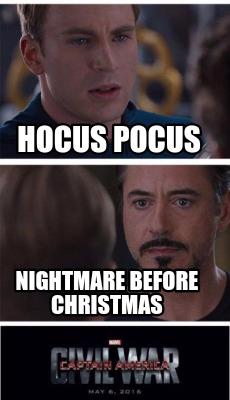 Nightmare Before Christmas Meme.Meme Creator Funny Hocus Pocus Nightmare Before Christmas