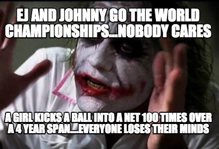 Nobody Cares Meme Joker Meme Creator - EJ And ...