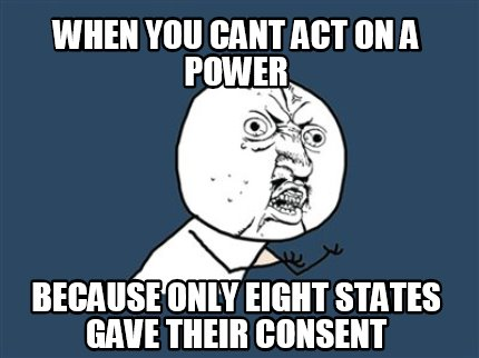 Meme Creator - When you cant act on a power because only ... Y U No Meme