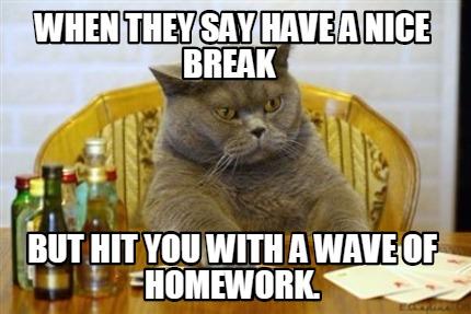 I have homework