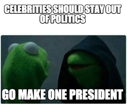 Should celebrities become political