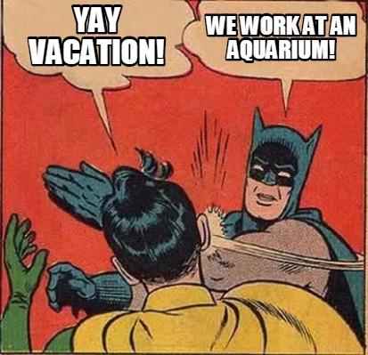 Meme Creator Funny Yay Vacation We Work At An Aquarium Meme Generator At Memecreator Org Best collection of funniest vacation memes. meme creator funny yay vacation we