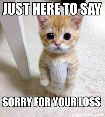 Meme Creator Funny Just Here To Say Sorry For Your Loss Meme