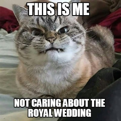 Meme Creator Funny This Is Me Not Caring About The Royal Wedding