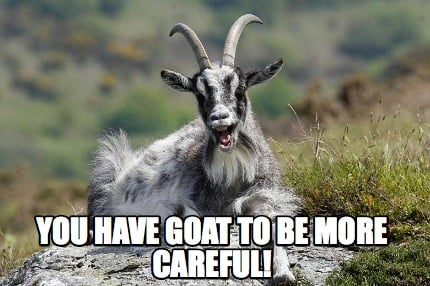 you-have-goat-to-be-more-careful