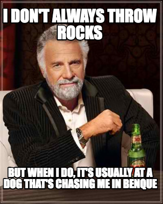 Meme Creator - Funny I don't always throw rocks but when I do, it's