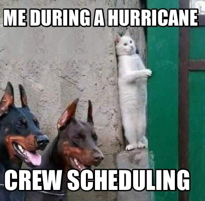 me-during-a-hurricane-crew-scheduling