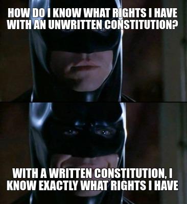 written unwritten constitution