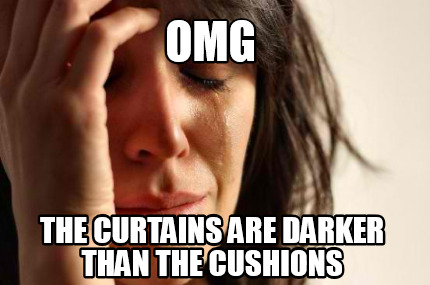 Meme Creator Funny Omg The Curtains Are Darker Than The Cushions