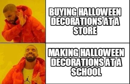 Meme Creator - Funny buying halloween decorations at a store making