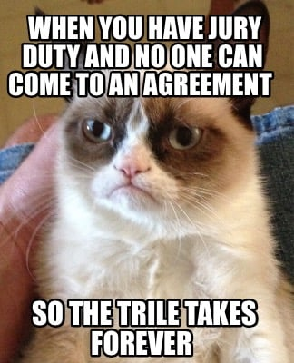 Meme Creator - Funny When you have jury duty and no one can