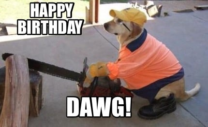 Meme Creator - Funny Happy Birthday DAWG! Meme Generator at
