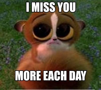 Meme Creator Funny I Miss You More Each Day Meme Generator At