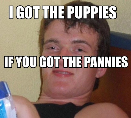 i-got-the-puppies-if-you-got-the-pannies