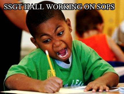 ssgt-hall-working-on-sops