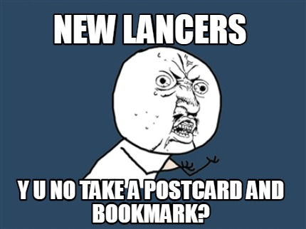 new-lancers-y-u-no-take-a-postcard-and-bookmark