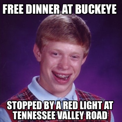 free-dinner-at-buckeye-stopped-by-a-red-light-at-tennessee-valley-road
