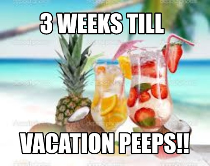 Image result for images of 3 weeks till vacation