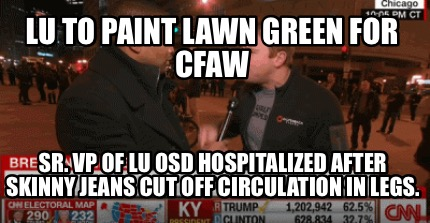 Meme Creator - Funny LU TO PAINT LAWN GREEN FOR CFAW Sr  VP