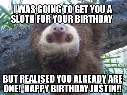 i-was-going-to-get-you-a-sloth-for-your-birthday-but-realised-you-already-are-on