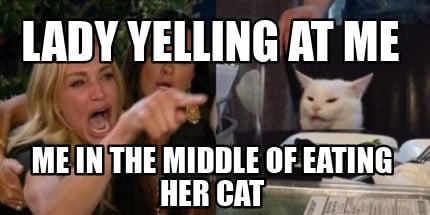 lady-yelling-at-me-me-in-the-middle-of-eating-her-cat