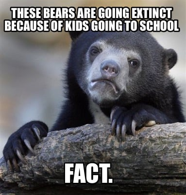 these-bears-are-going-extinct-because-of-kids-going-to-school-fact