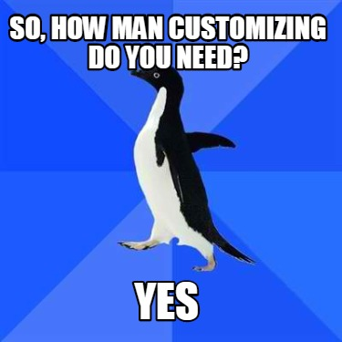 so-how-man-customizing-do-you-need-yes