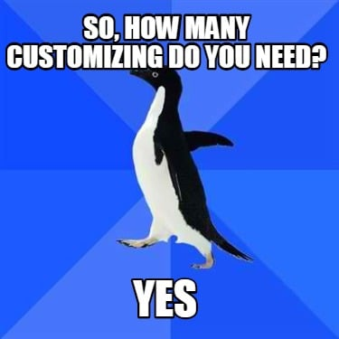 so-how-many-customizing-do-you-need-yes